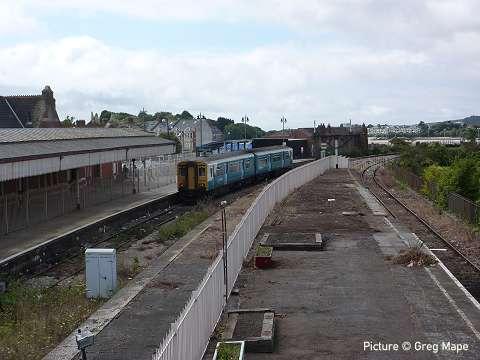 north wales coast railway notice board  september