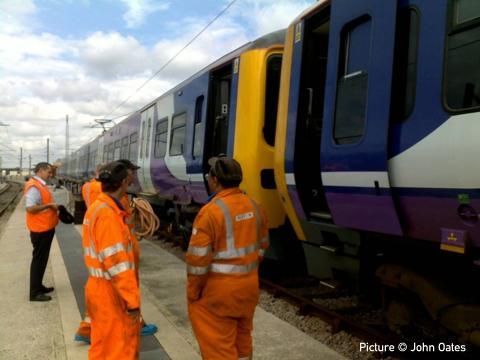 North Wales Coast Railway Notice Board 15 August 2011